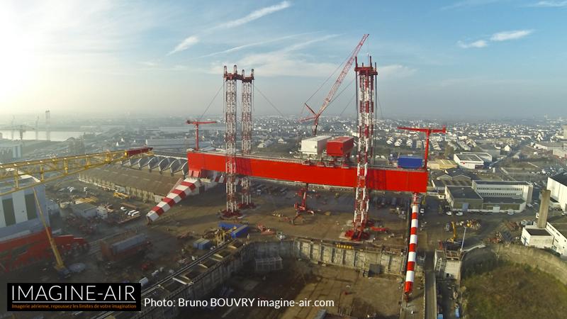 Photo aérienne en Drone TGP STX Saint Nazaire
