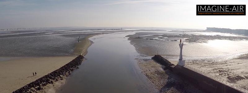 L'occasion des grandes marées pour réaliser des photos aériennes en drone de la Baule et du Pouliguen